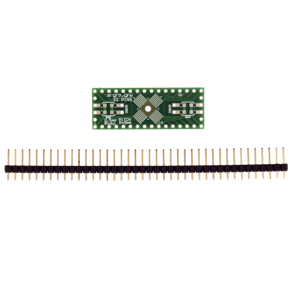 32 Pin QFP /& QFN Adapter Schmartboard SchmartBoard|ez .5mm Pitch
