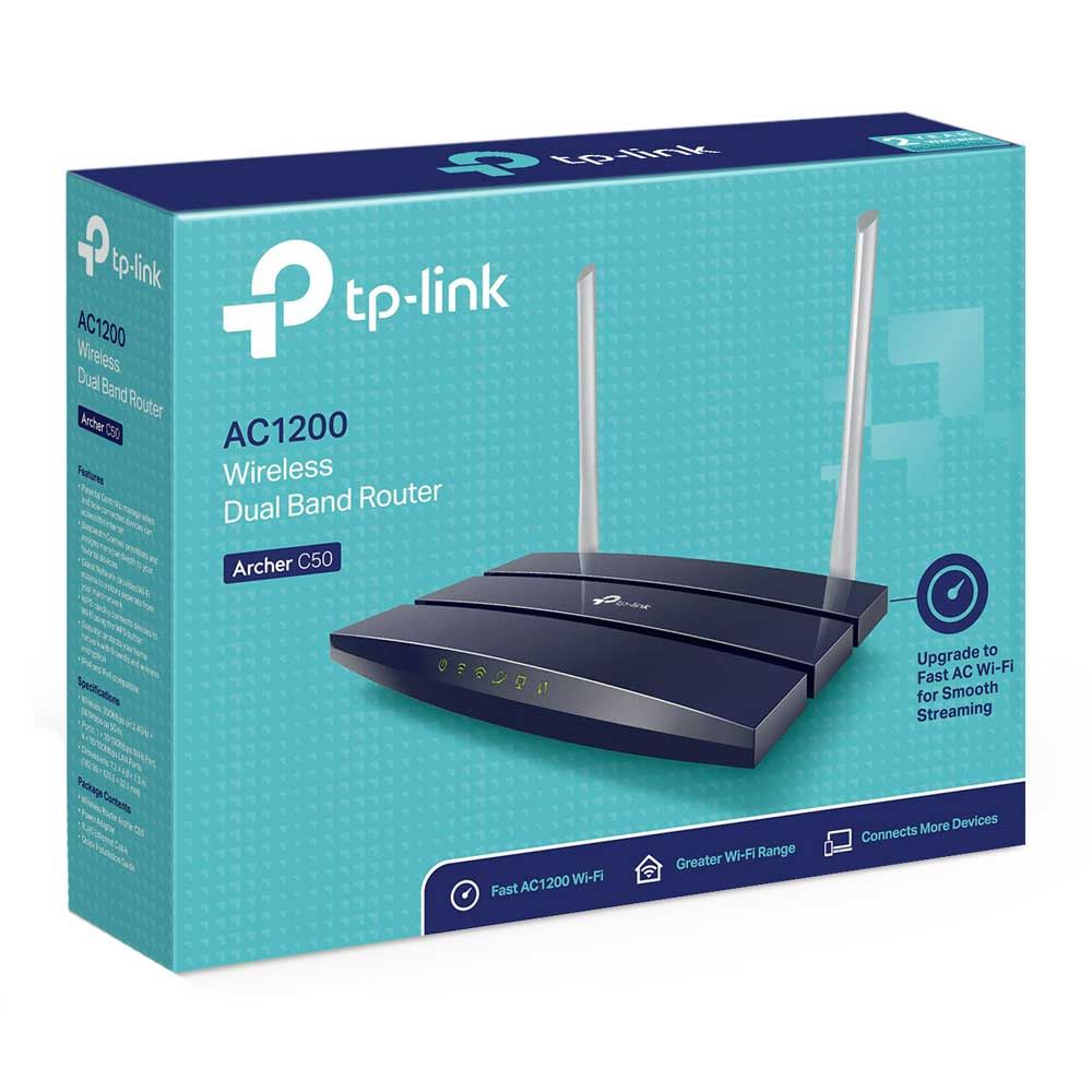 TP-LINK Archer C50 AC1200 Dual Band Wireless - Micro Center
