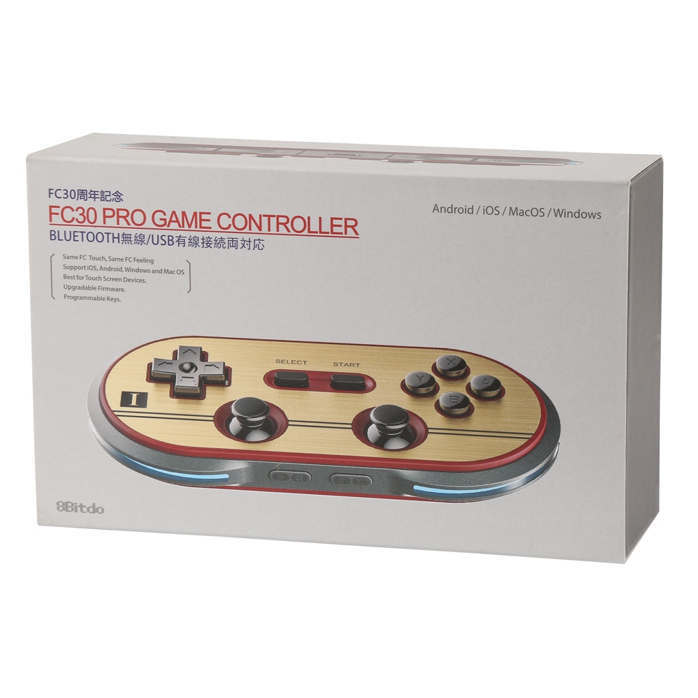 8bitdo Fc30 Pro Bt Game Controller Micro Center Nes30 Retro Bluetooth For Switch Ios Android Pc Mac Breadcrumbs