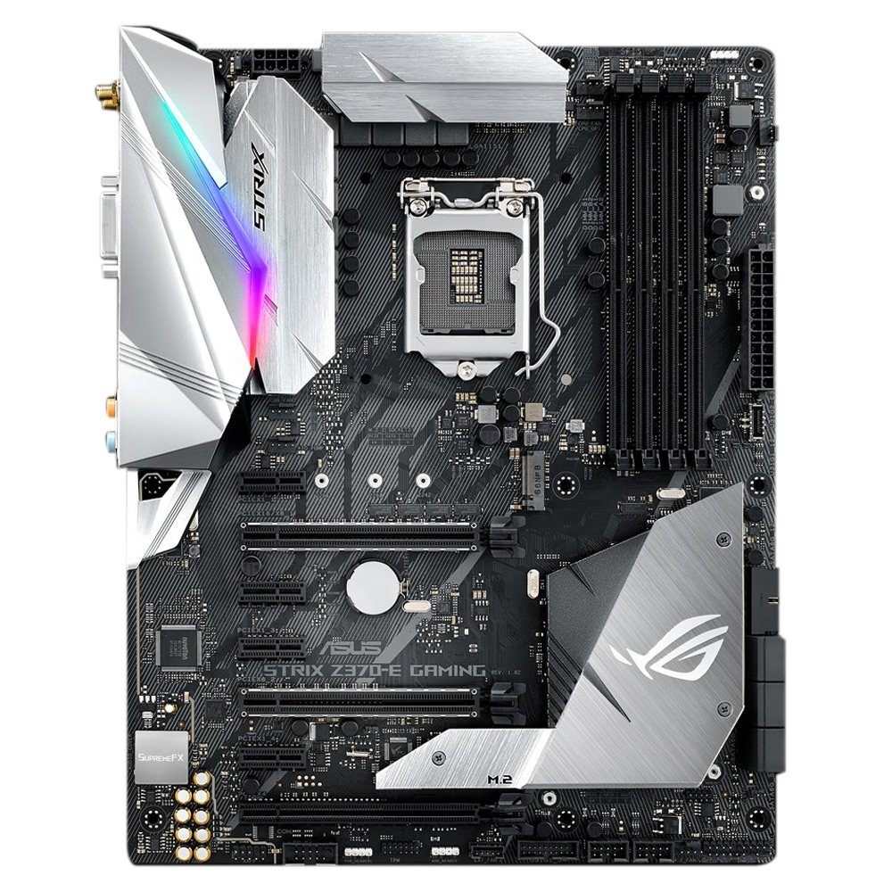 ASUS ROG STRIX Z370-E GAMING LGA 1151 ATX - Micro Center