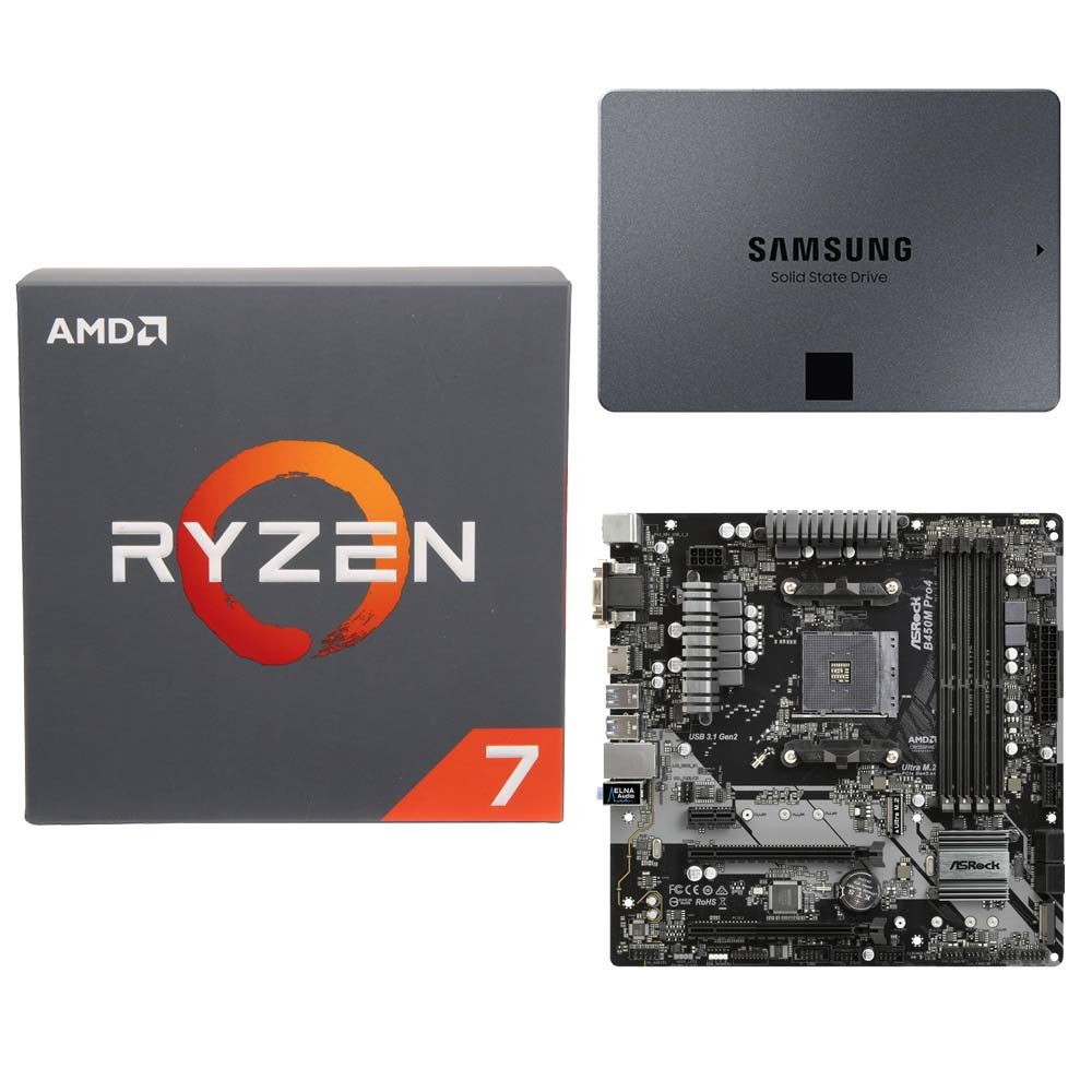 AMD Ryzen 7 2700 with Wraith Spire Cooler, - Micro Center