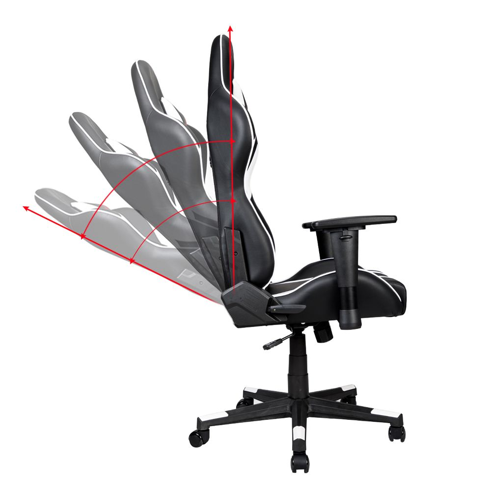 Astounding Inland Mach Gaming Chair Black White Micro Center Andrewgaddart Wooden Chair Designs For Living Room Andrewgaddartcom