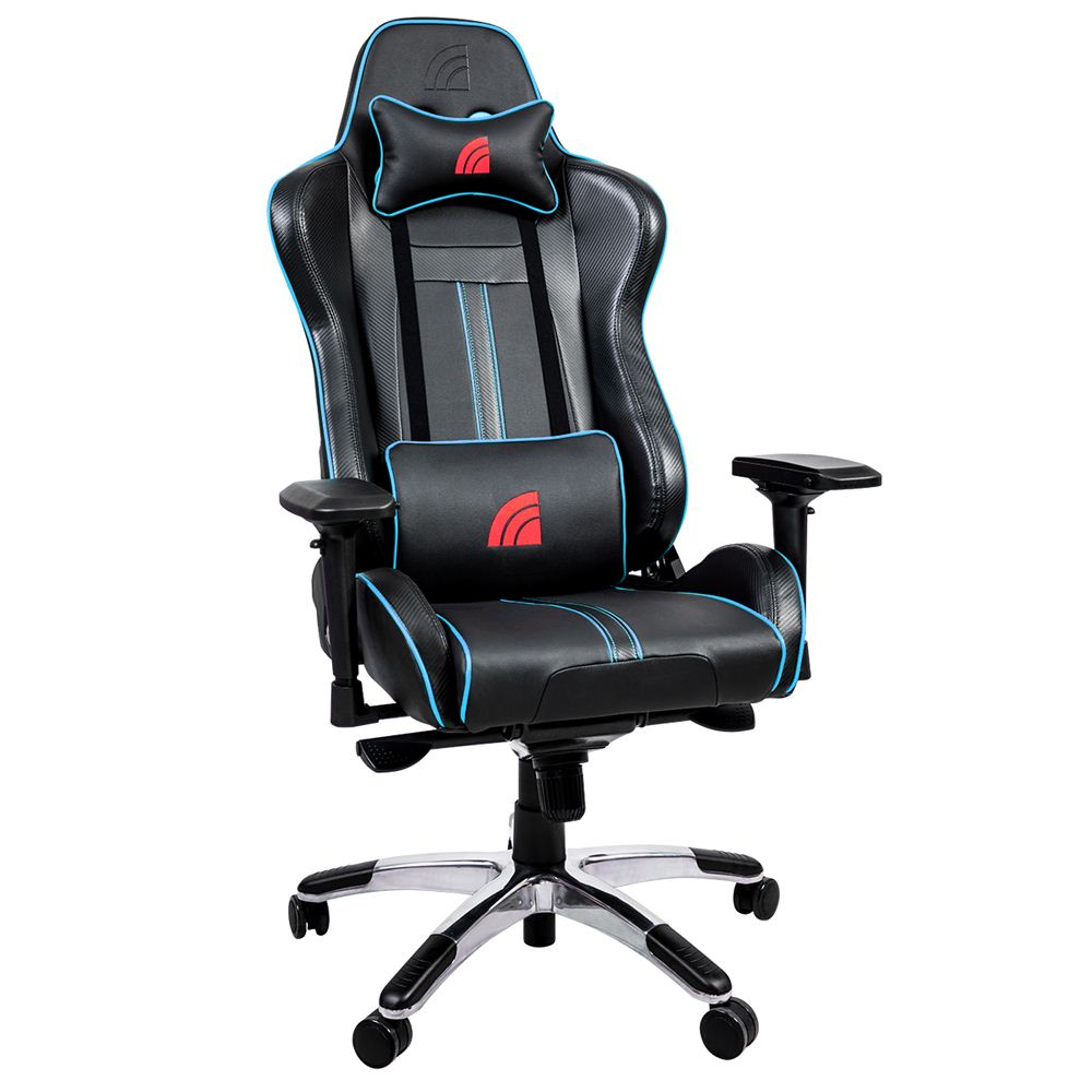 Stupendous Inland Thunder Gaming Chair Black Blue Micro Center Andrewgaddart Wooden Chair Designs For Living Room Andrewgaddartcom