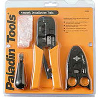 Paladin Tools Network Tool Installation Set-Crimper, Stripper, Punchdown Tool