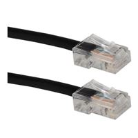 QVS CAT 5e Stranded Network Cable 7 ft. - Black