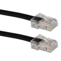 QVS CAT 5e Stranded Network Cable 14 ft. - Black