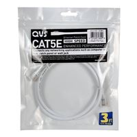 QVS CAT 5e Stranded Network Cable 10 ft. - White