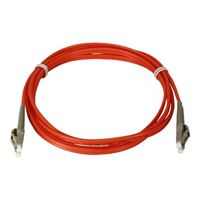 QVS LC to LC Multimode Fiber Duplex Patch Cable 6.6 ft. - Orange