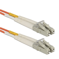 QVS LC to LC Multimode Fiber Duplex Patch Cable 9.8 ft. - Orange