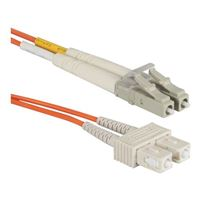 QVS LC to SC Multimode Fiber Duplex Patch Cable 9.8 ft. - Orange