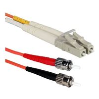 QVS LC to ST Multimode Fiber Duplex Patch Cable 3.3 ft. - Orange