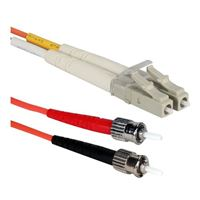 QVS LC to ST Multimode Fiber Duplex Patch Cable 9.8 ft. - Orange
