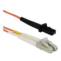 QVS MT-RJ to LC Multimode Fiber Duplex Patch Cable 9.8 ft. - Orange