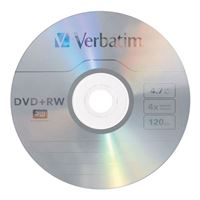 Verbatim DVD+RW 4x 4.7 GB/120 Minute Disc 30-Pack Spindle