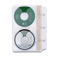 Handstands CD/DVD Insert Pages for Library Storage System Binders 8 Pack