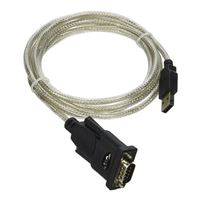QVS USB 2.0 (Type-A) Male to DB-9 RS-232 Serial Male Adapter Cable 6 ft. - Black