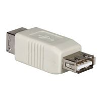 QVS USB 2.0 (Type-A) Female to USB 2.0 (Type-B) Male Adapter - Beige