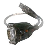 IOGear USB 1.1 (Type-A) Male to DB-9 RS-232 Serial Male Adapter Cable 1 ft. - Silver