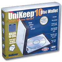 Unikeep Clear CD Wallet with 10 Safety-Sleeves