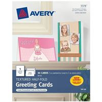 Avery Textured Half-Fold Greeting Cards
