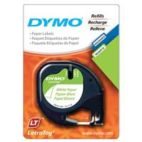 Dymo 10697 Letra Tag White Paper Labels 2-Pack