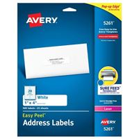 Avery 5261 Laser White Address and Shipping Labels