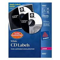 Avery 5692 White Laser CD/DVD Label Kit