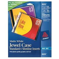 Avery 8693 CD/DVD Jewel Case Inserts Pack