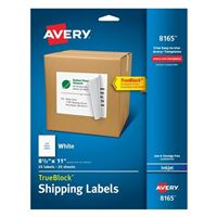 Avery 8165 InkJet Full Sheet Labels