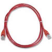 QVS CAT 5e Snagless Network Cable 3 ft. - Red