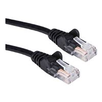 QVS CAT 5e Snagless Network Cable 10 ft. - Black