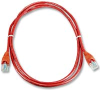 QVS CAT 5e Snagless Network Cable 10 ft. - Red
