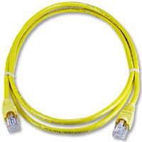 QVS CAT 5e Snagless Network Cable 10 ft. - Yellow