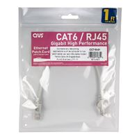 QVS CAT 6 Snagless Network Cable 25 ft. – Gray