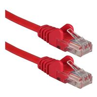 QVS CAT 6 Snagless Network Cable 7 ft. – Red