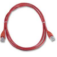 QVS CAT 6 Snagless Network Cable 25 ft. – Red