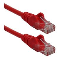 QVS CAT 6 Snagless Network Cable 50 ft. – Red