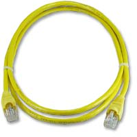 QVS CAT 6 Snagless Network Cable 50 ft. – Yellow