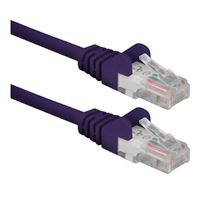 QVS CAT 6 Snagless Network Cable 10 ft. - Purple