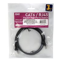 QVS CAT 6 Snagless Network Cable 14 ft. - Black