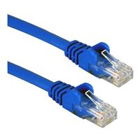 QVS 25 Ft. CAT 6 Snagless Molded Boot Ethernet Cable - Blue