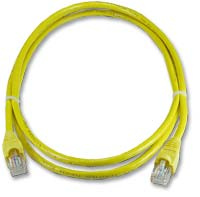 QVS CAT 6 Snagless Network Cable 14 ft. - Yellow