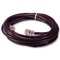 QVS CAT 5e Stranded Network Cable 7 ft. - Purple