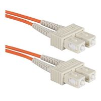 QVS SC to SC Multimode Fiber Duplex Patch Cable 3.3 ft. - Orange