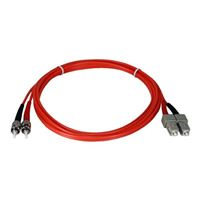 QVS ST to SC Multimode Fiber Duplex Patch Cable 6.6 ft. - Orange