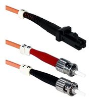 QVS MT-RJ to ST Multimode Fiber Duplex Patch Cable 9.8 ft. - Orange