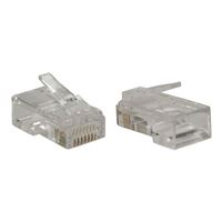 QVS Modular Connectors Gold Plated for Network Cables 100 Pack
