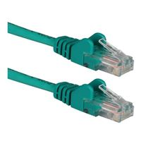 QVS 100 Ft. CAT 6 Stranded Snagless Molded Boots Ethernet Cable - Green