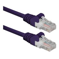 QVS CAT 6 Snagless Network Cable 3 ft. - Purple