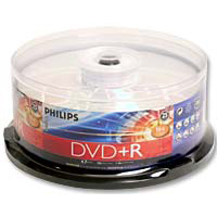 Philips DVD+R 16x 4.7 GB/120 Minute Disc 25-Pack Spindle